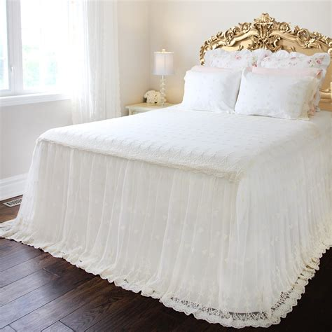 Lace Coverlet Bedding by Lace Bed Skirt