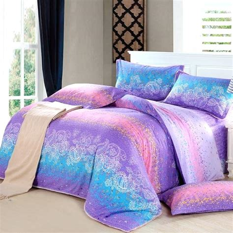 pink and purple comforter set reversible twin blue