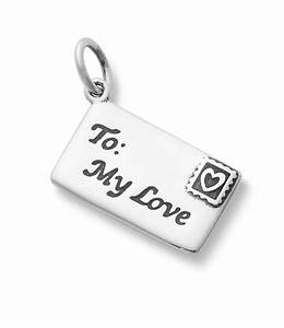 james avery enamel and sterling silver love letter charm With james avery necklace with letter