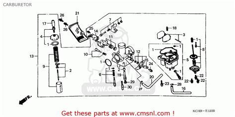 honda cg125 1995 s carburetor schematic partsfiche