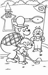 Coloring Pages Bears Berenstain Golf Colouring Printable Bear Sheets Brother Playing Miniature Sister Papa Mini Books Disney Activity Activities Coloringpagesabc sketch template