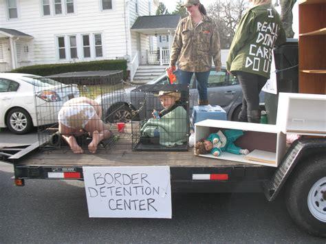 hummers parade draws ire  float  migrant children