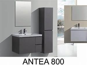 meubles lave mains robinetteries meuble sdb meuble With meuble salle de bain suspendu 80 cm
