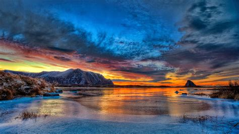 arctic circle sunset norway nature pictures