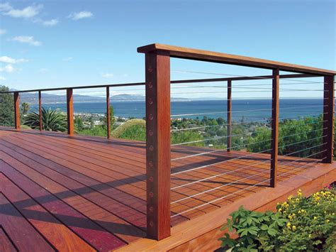 cable deck railing cost trex decking prices exterior contemporary with cable rail cablerail deck railing decking decks