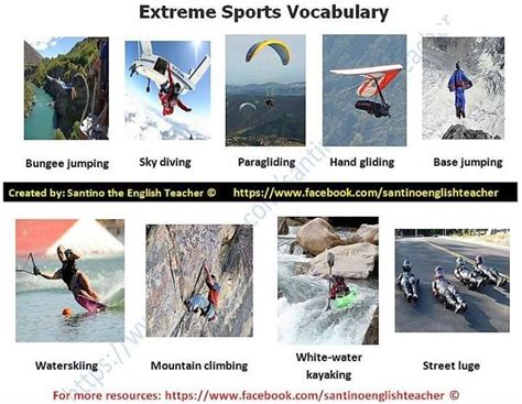 extreme sport vocabulary elt voc inmardm themooncat