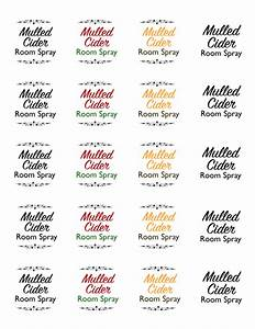 mulled cider essential oil holiday room spray template With essential oil label template