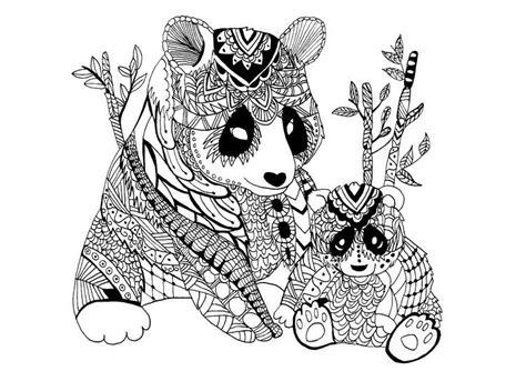 Disney Ausmalbilder Tiere : Ausmalbilder Erwachsene Malvorlagen Tiere Pandas Ausmalen