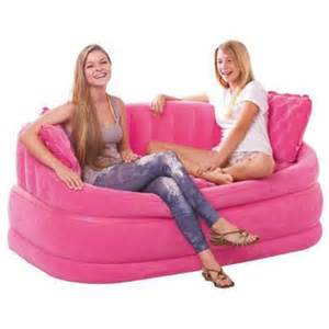 buy intex inflatable pink air sofa online at best price in