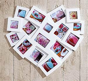 Bilderrahmen Weiß Mehrere Bilder : bilderrahmen in herzform f r 16 fotos farbe weiss ~ Bigdaddyawards.com Haus und Dekorationen