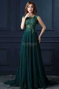 robe de soiree longue verte pas cher en mousseline With robe de soirée en mousseline longue