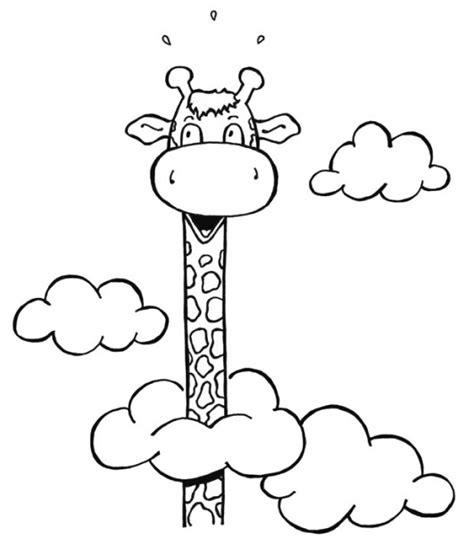 dibujos de jirafas infantiles para imprimir imagui