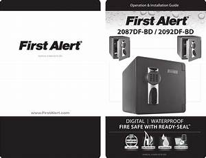 First Alert 2087df Bd 2092df Users Manual