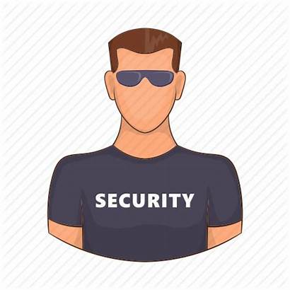 Cartoon Security Guard Adult Protection Icon Male
