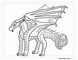 Wings Coloring Fire Pages Seawing Lineart Dragon Printable Line Adults Print Then Library Transparent sketch template