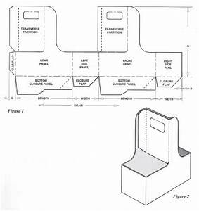 box templates corrugated and folding carton box With six pack carrier template