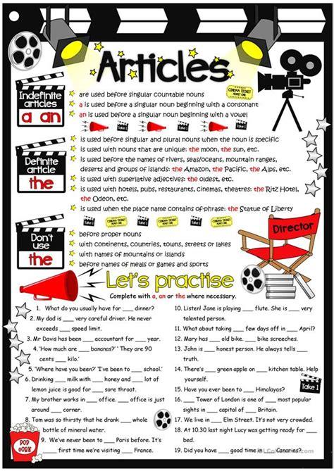 Articles - guide & practice worksheet - Free ESL printable ...