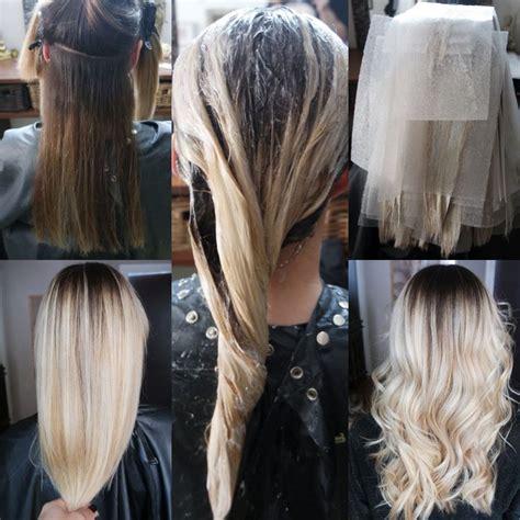 Ombré Hair Blond Polaire Balayage Blond Polaire Sur Cheveux Chatain