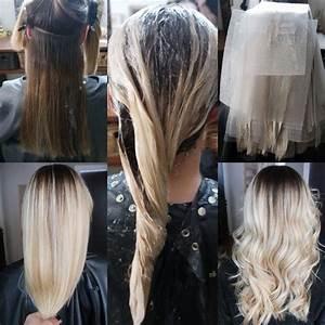 Ombre Hair Blond Polaire : balayage blond polaire sur cheveux chatain ~ Nature-et-papiers.com Idées de Décoration