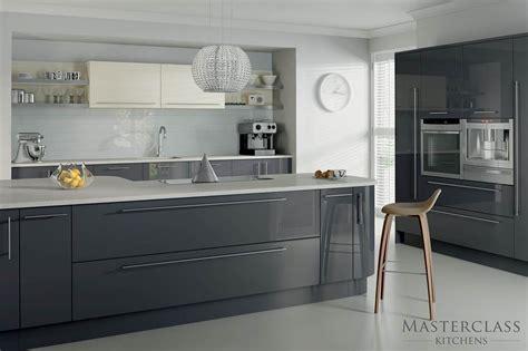 mix match kitchen grey ivory high gloss details high gloss