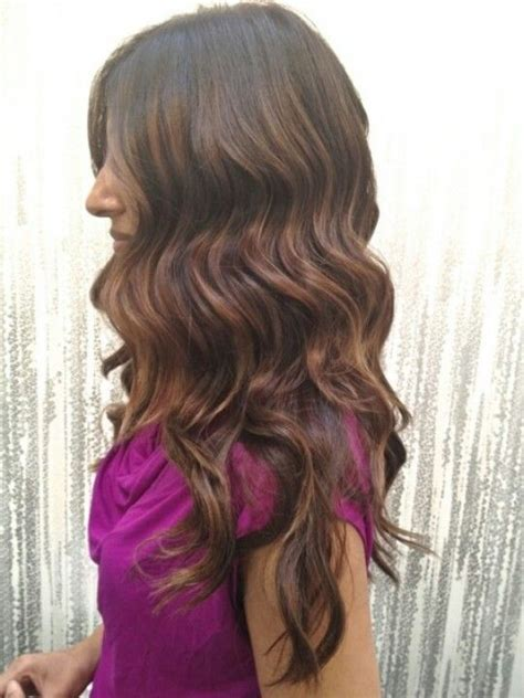 Light Brown with Auburn Highlights Dark Hair