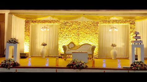 kerala wedding stage decoration youtube