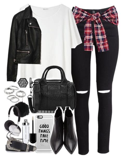 U0026quot;Outfit for meeting friends with a leather jacketu0026quot; by ferned on Polyvore featuring Hu0026M Acne ...