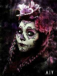 265 best sugar skull images on Pinterest | Artistic make ...