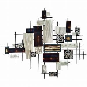 Deco Murale Metal : d coration murale m tal carr et rectangles alu et brun fum ~ Voncanada.com Idées de Décoration
