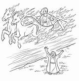 Elijah Chariot Bible Fire Coloring Pages Sunday Story Chariots Widow Crafts Elisha Printable Drawing Horse Heaven Taken Craft Children Lessons sketch template