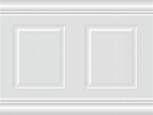 Papier Peint Effet Lambris : papier peint adh sif trompe l 39 oeil moulures lambris ~ Zukunftsfamilie.com Idées de Décoration