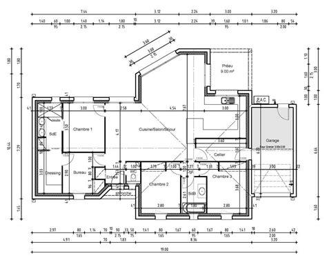 plan maison 3 chambres 1 bureau with plan maison 3 chambres 1 bureau
