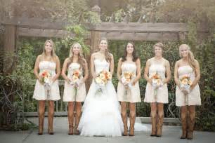 country wedding of the dresses rustic wedding with bridesmaids in cowboy boots rustic wedding chic