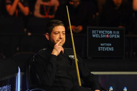 Snooker Star Matthew Stevens Has Cue He Had Used Since He