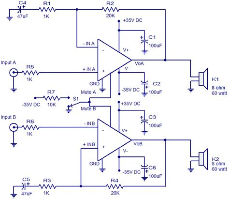 audio amplifier circuit electronic circuits