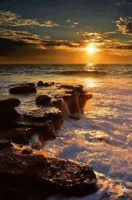 Beautiful Ocean Sunset Beach