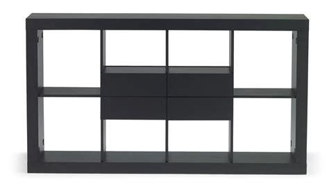 Parker Espresso Wood Bookshelf With Four Drawer Storage