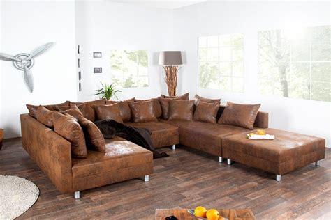 canap駸 d angle cuir canape d angle cuir marron maison design modanes com
