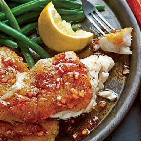 grouper pan seared sauce brown butter recipe balsamic fish recipes dinner myrecipes seafood groupers fresh groupies crisp magic restaurant sl