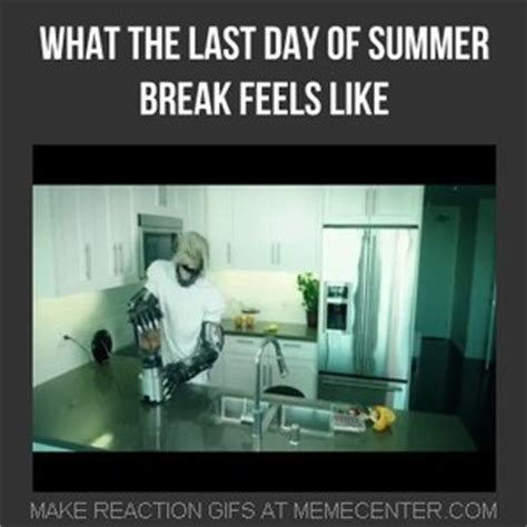 Last Day Of Summer Meme - what the last day of summer feels like by akusminion meme center