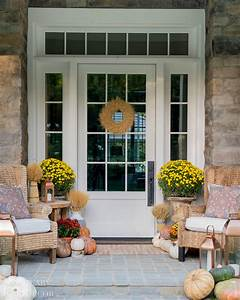 Front, Porch, Decorating, For, Fall