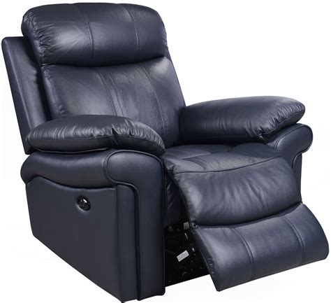 shae joplin blue leather power reclining chair 1555 e2117