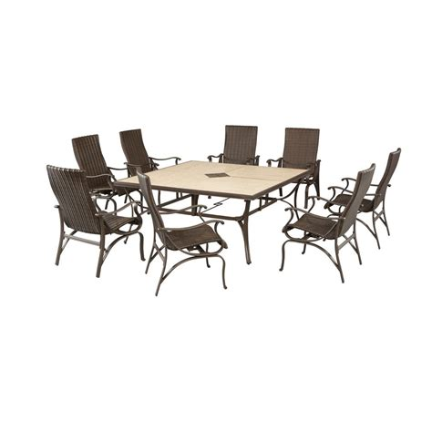hton bay pembrey 9 patio dining set hd14216 the