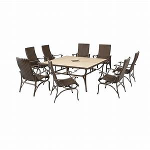 Hampton bay pembrey 9 piece patio dining set hd14216 the for Pembrey 9 piece patio dining set