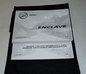 2010 Buick Enclave Owners Manual Set Guide 10 W  Case Cx
