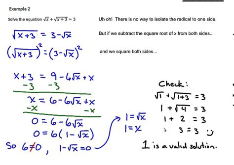 Solving Radical Equations Worksheet Algebra 2 Unit