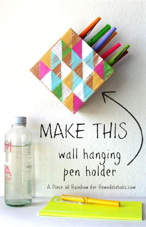 make a hanging l remodelaholic make a modern wall hanging pen holder