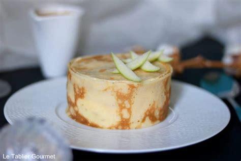 le g 226 teau de cr 234 pes de tintin pomme verte rhum et sauce au caramel