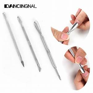 Free Shipping 3Pcs Stainless Steel Nail Art Cuticle Spoon ...