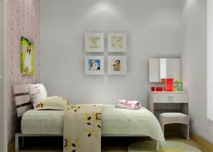 Simple house interior design girl bedroom